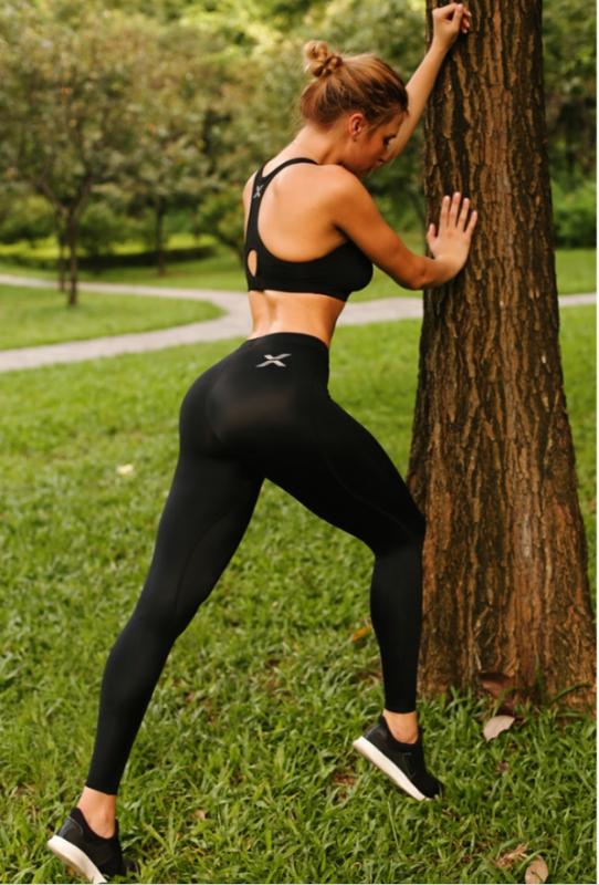 กางเกงวิ่งรัดกล้ามเนื้อผู้หญิง EVS Compression pant sport tight yoga pant quick dry running(G12) เรามักจะเห็นสาวๆ ใส่กันเวลาไปฟิตเนส
