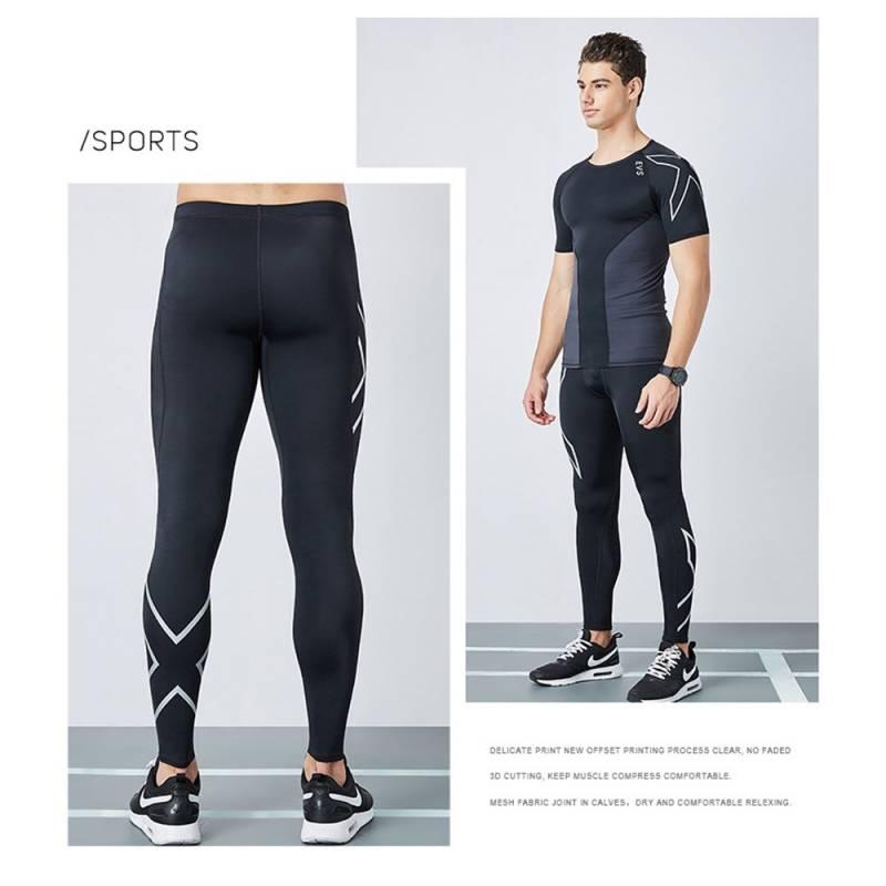 กางเกงวิ่งรัดกล้ามเนื้อ EVS Running Compression Pants Tights Men Sports กางเกงวิ่งมาราธอนที่ออกมาเพื่อแก้ปัญหายุ่งยาก