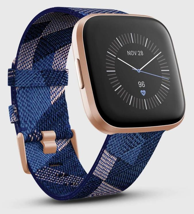 นาฬิกาวิ่งมาราธอนกันน้ำ Fitbit Versa 2 นาฬิกาสำหรับสายลุย สามารถกันน้ำได้ถึง 50 เมตร สามารถใช้ฟังเพลงได้อีกด้วยผ่านทาง Spotify
