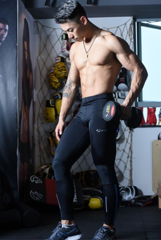 กางเกงรัดกล้ามเนื้อสำหรับคุณผู้ชายออกมาโดยเฉพาะ ให้ได้เลือกซื้อใช้กัน อย่างกางเกงวิ่งรัดกล้ามเนื้อ Running EVS Men Compression Tights Navy